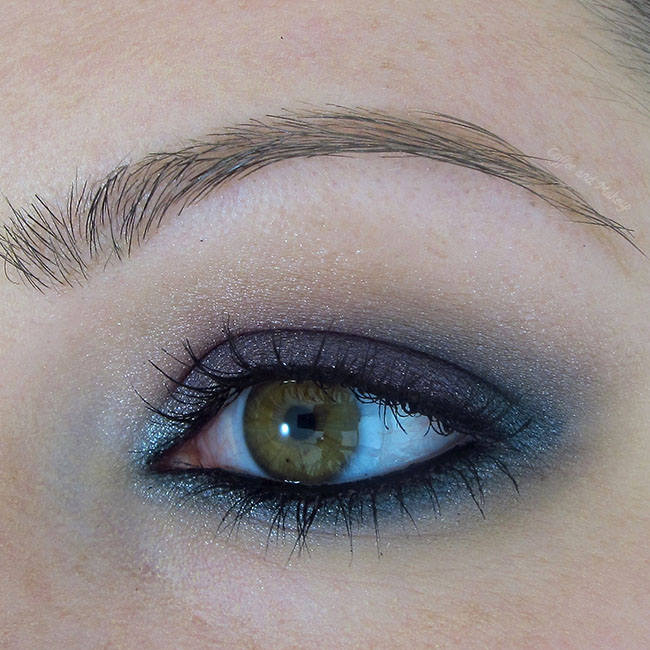 Gunmetal and Violet Eyeshadow Look