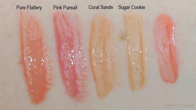 Mac Pure Flattery Lipglass Comparison Swatches