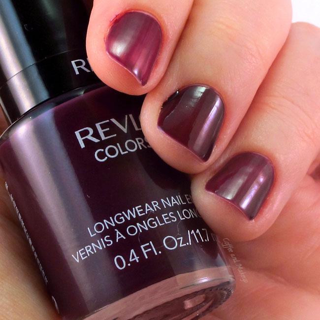 Revlon Colorstay Longwear Nail Enamel in Bold Sangria Swatched
