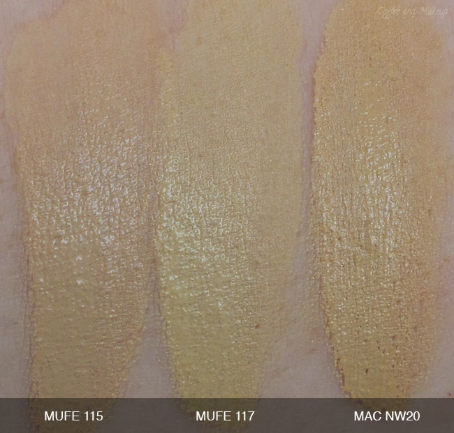 Make Up For Ever HD Foundation Swatches