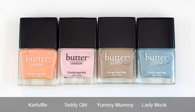 My Small Butter London Collection, Swatches, and Mini Review - Coffee & Makeup