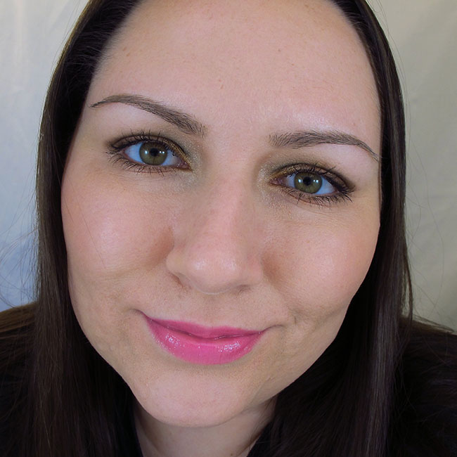 Wearing Maybelline Color Sensational High Shine Gloss in Electric Shock
