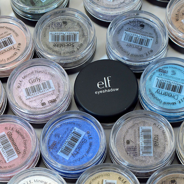 Elf Mineral Eyeshadow Swatchfest