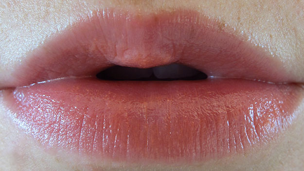 Revlon Lip Butter in Juicy Papaya On Lip Swatch