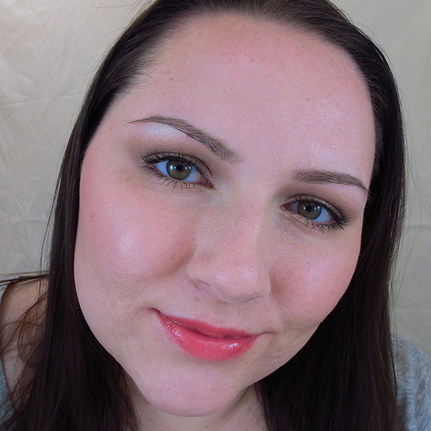 Wearing Revlon Lip Butter in Juicy Papaya