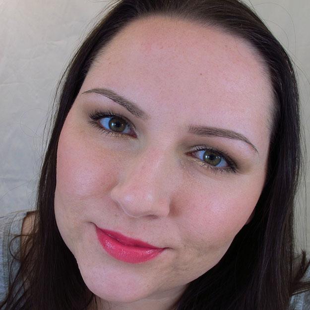 Wearing Revlon Lip Butter in Sorbet