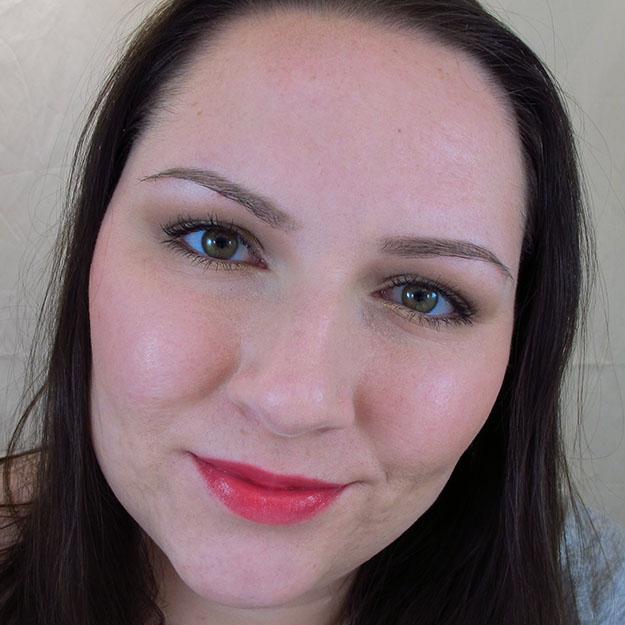 Wearing Revlon Lip Butter in Wild Watermelon