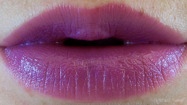 Maybelline Brazen Berry Color Sensational Vivids Lipstick On Lip Swatch