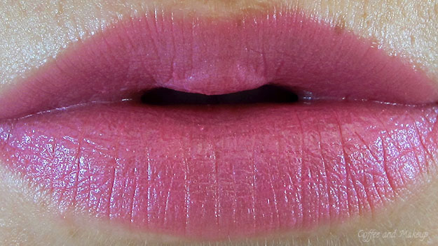 Maybelline Pink Pop Color Sensational Vivids Lipstick On Lip Swatch
