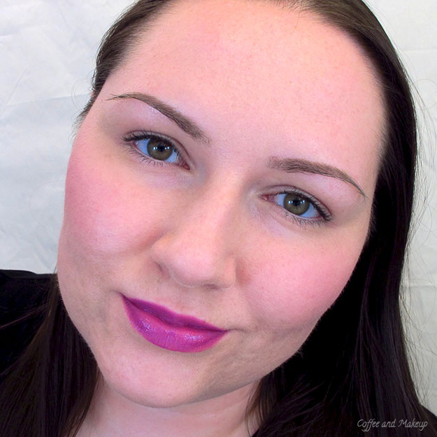 Wearing Maybelline Brazen Berry Color Sensational Vivids LIpstick