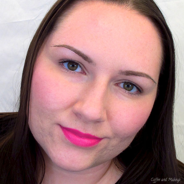 Wearing Maybelline Fuchsia Flash Color Sensational Vivids Lipstick