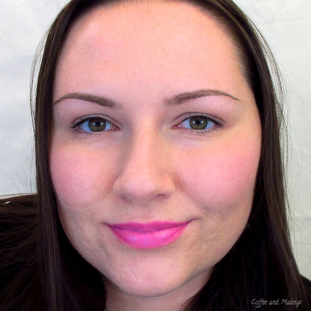 Wearing Maybelline Pink Pop Color Sensational Vivids Lipstick