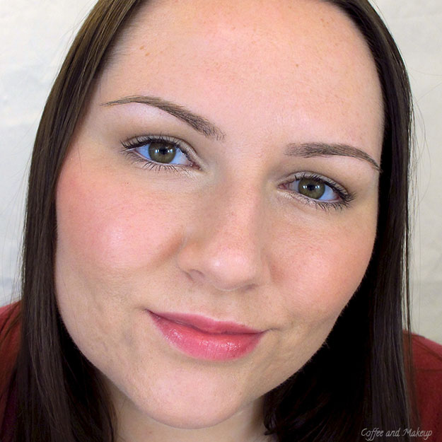 Wearing Milani Luminoso Baked Powder Blush