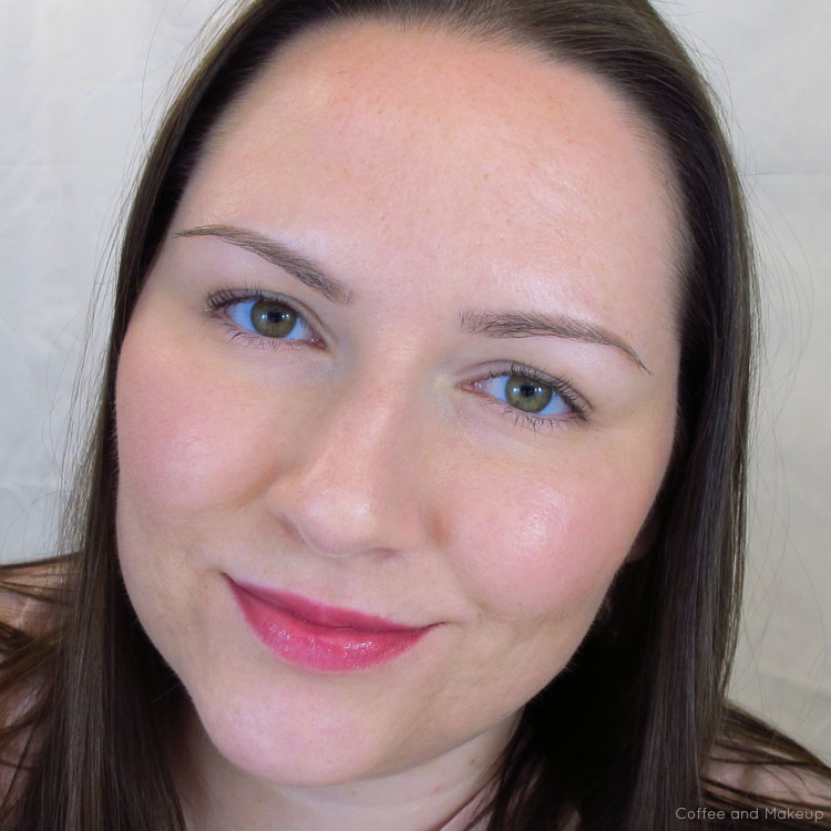 Wearing Sonia Kashuk Hint of Berry Moisture Luxe Tinted Lip Balm