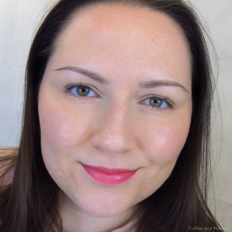 Wearing Sonia Kashuk Hint of Pink Moisture Luxe Tinted Lip Balm