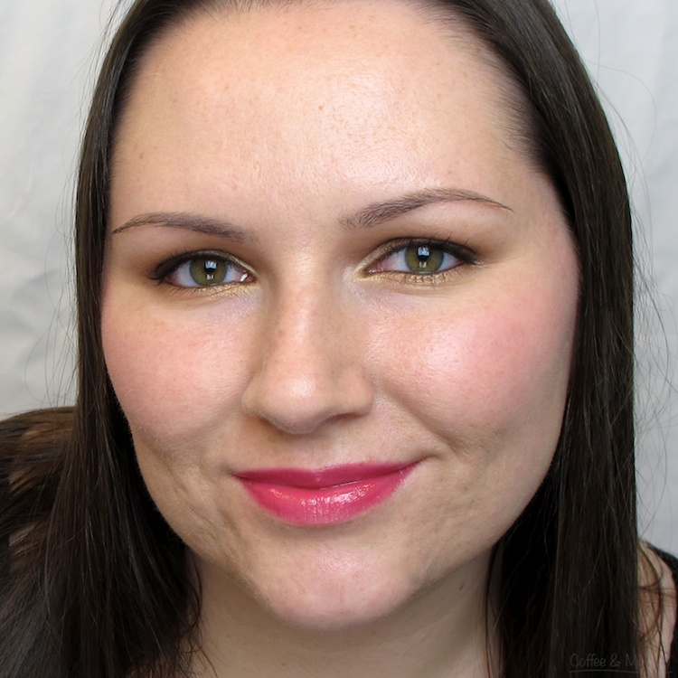 Wearing Maybelline Berry Brilliance High Shine Lip Gloss