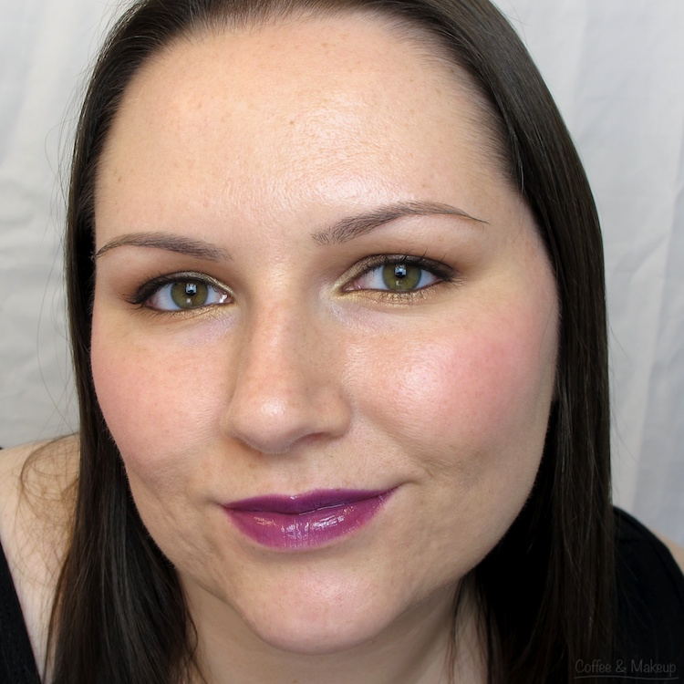Wearing Maybelline Purple Royale High Shine Lip Gloss