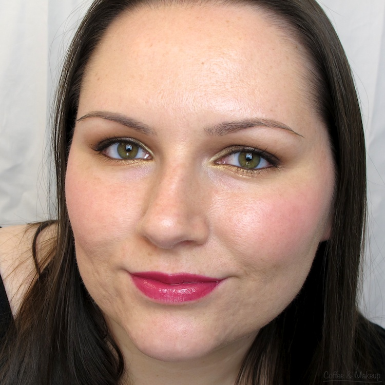 Wearing Maybelline Raspberry Ablaze High Shine Lip Gloss