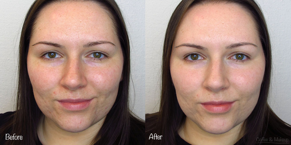Before and After Urban Decay Naked Skin Foundation