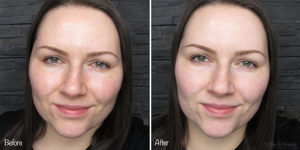 NYX Angel Veil Skin Perfecting Primer - Before and After