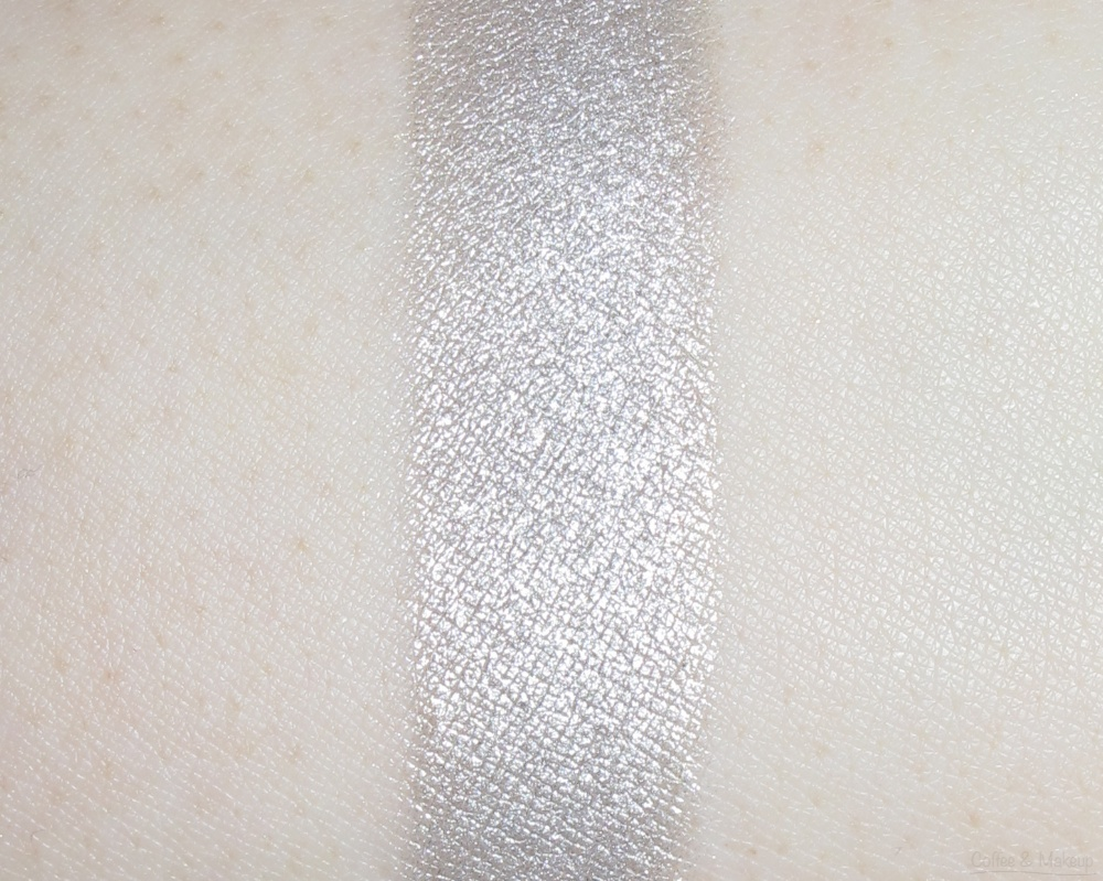Maybelline Covetable Cobalt Color Plush Silk Eyeshadow Quad Swatches - Second shade from left