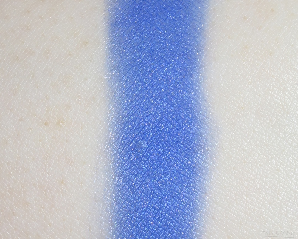 Maybelline Covetable Cobalt Color Plush Silk Eyeshadow Quad Swatches - Third shade from left