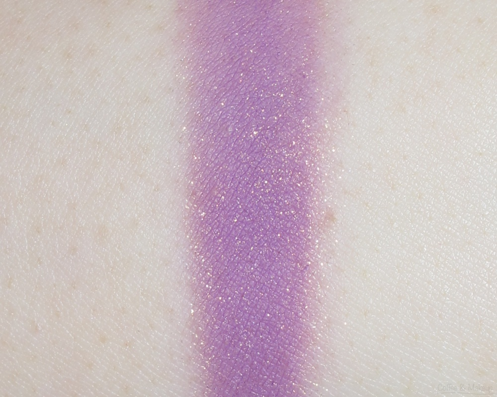 Maybelline Plum Passion Color Plush Silk Eyeshadow Quad Swatch - Third shade from left