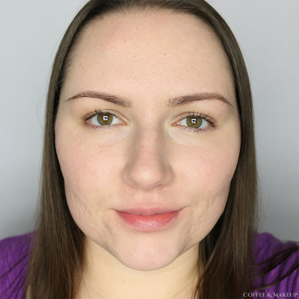 After, wearing Cover FX Custom Cover Drops mixed with Physicians Formula Youthful Wear Spotless Foundation in Light