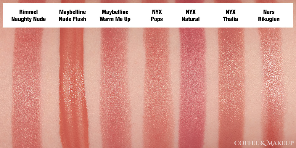 Rimmel The Only One Lipstick in Naughty Nude Dupes and Comparisons