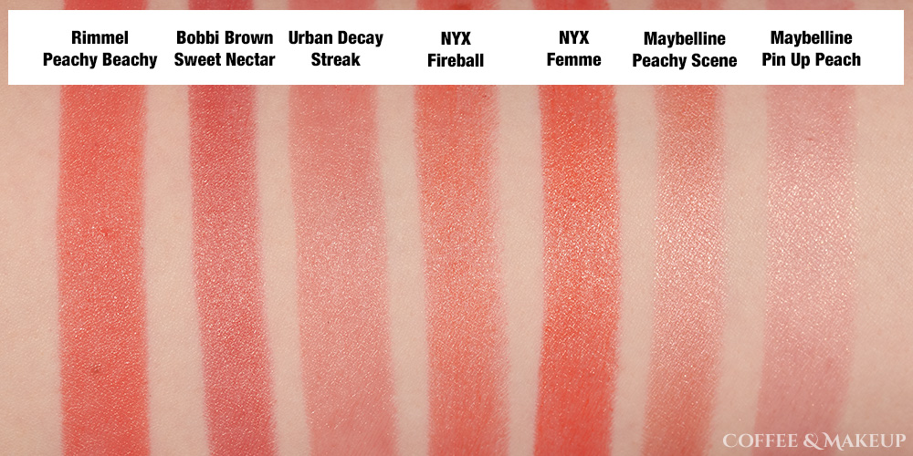 Rimmel The Only One Lipstick in Peachy Beachy Dupes and Comparisons