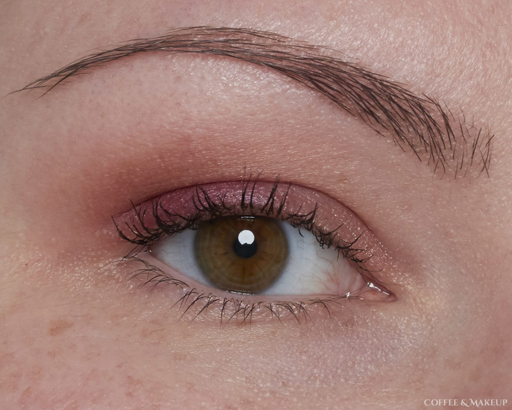 Wearing 3 Sheets (brow bone), WTF (crease), Shade (outer lid), and Bare (inner lid) | Urban Decay Backtalk Palette