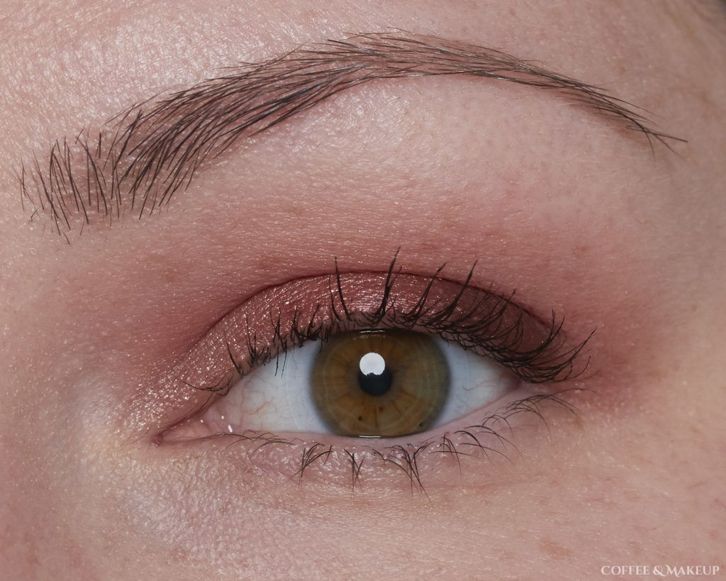 Wearing 3 Sheets (brow bone), Backtalk (crease), 180 (outer lid), Attitude (center of lid), and Curve (inner lid) | Urban Decay Backtalk Palette