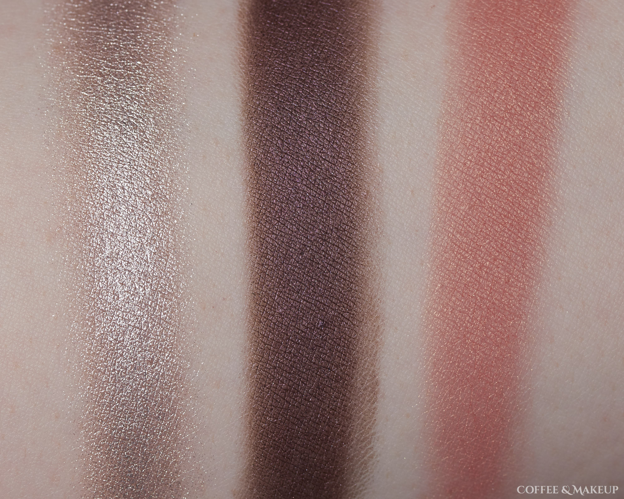 Revlon Bold Creme Eyeshadows in Stardust (left) and Merlot (center) | Loreal Enchanted Paradise Scented Blush in Fantastical (right)