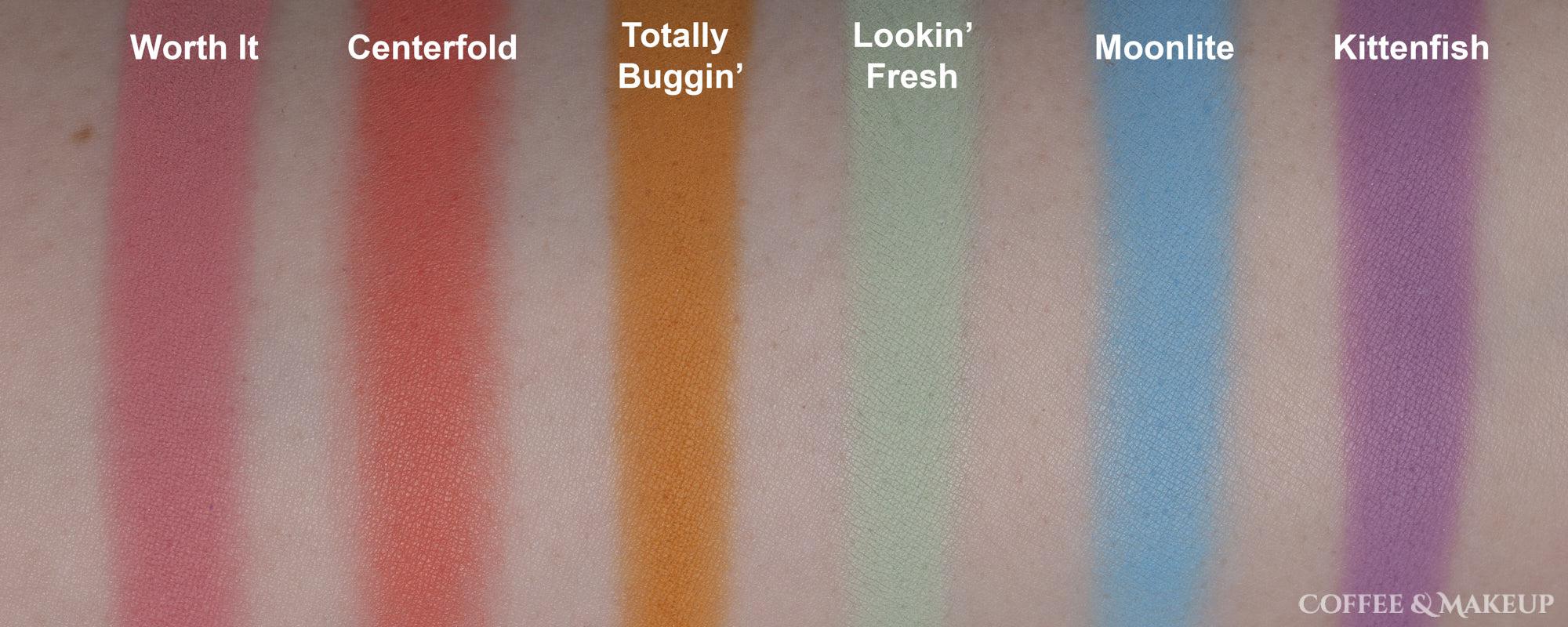 ColourPop She's A Rainbow Palette Swatches