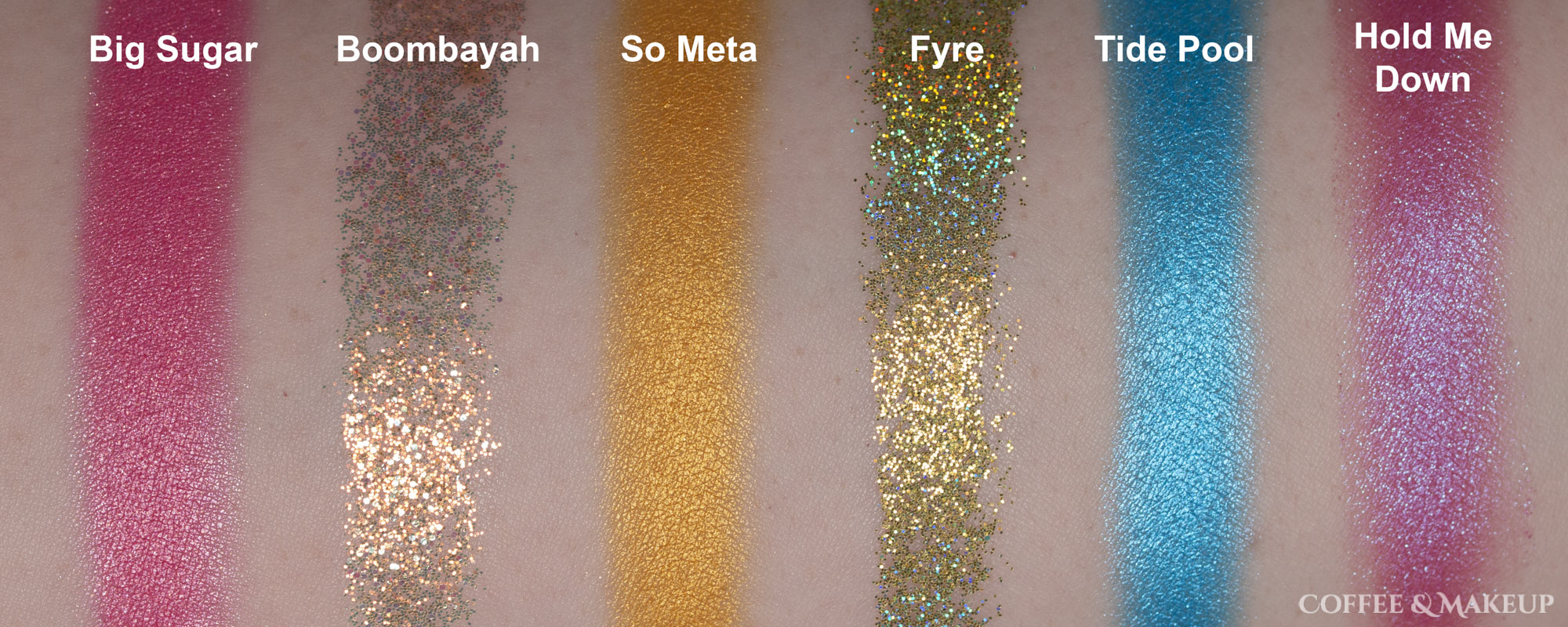 ColourPop She's A Rainbow Palette Swatches