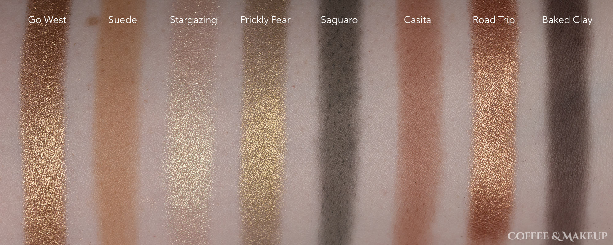 Smashbox Cover Shot Desert Eyeshadow Palette Swatches