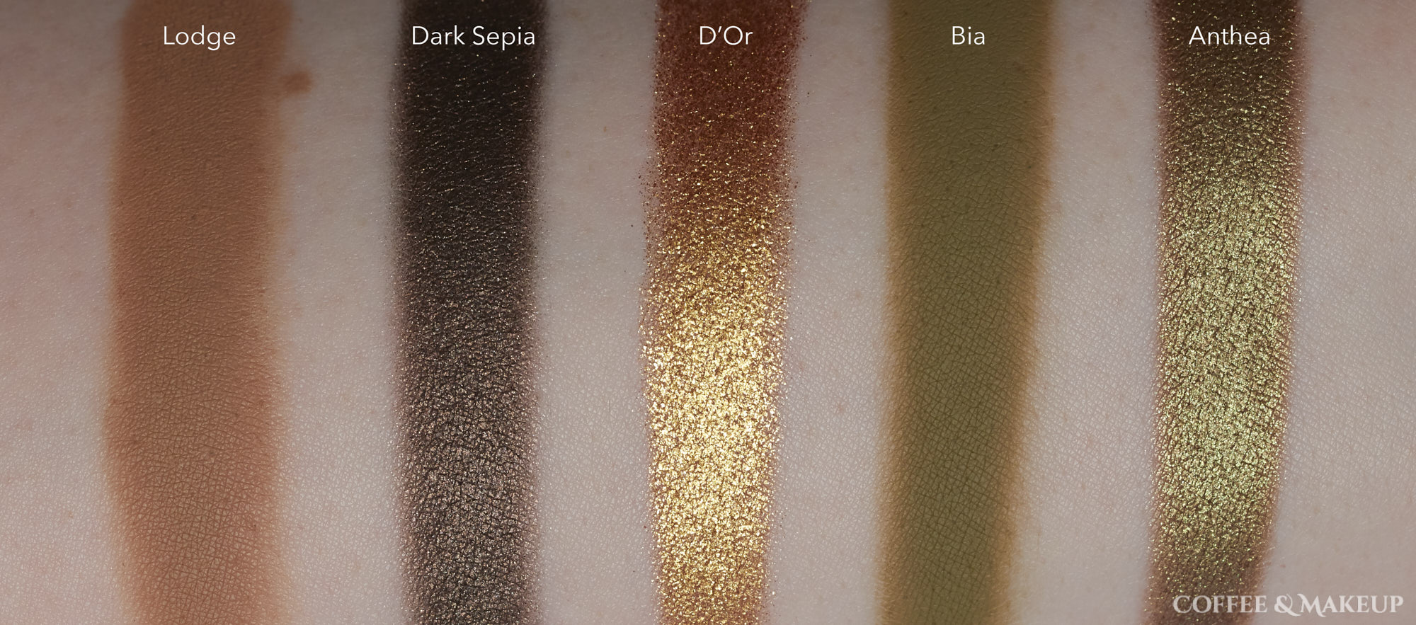 Natasha Denona Mini Gold Palette Swatches