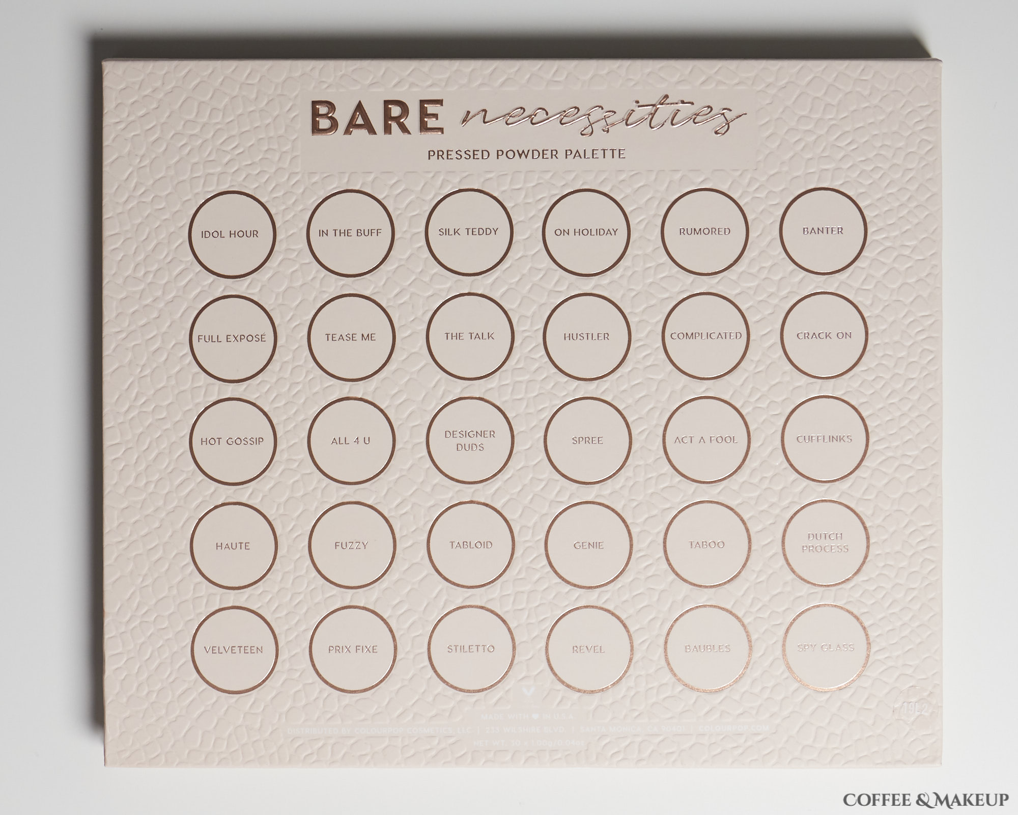 ColourPop Bare Necessities Palette