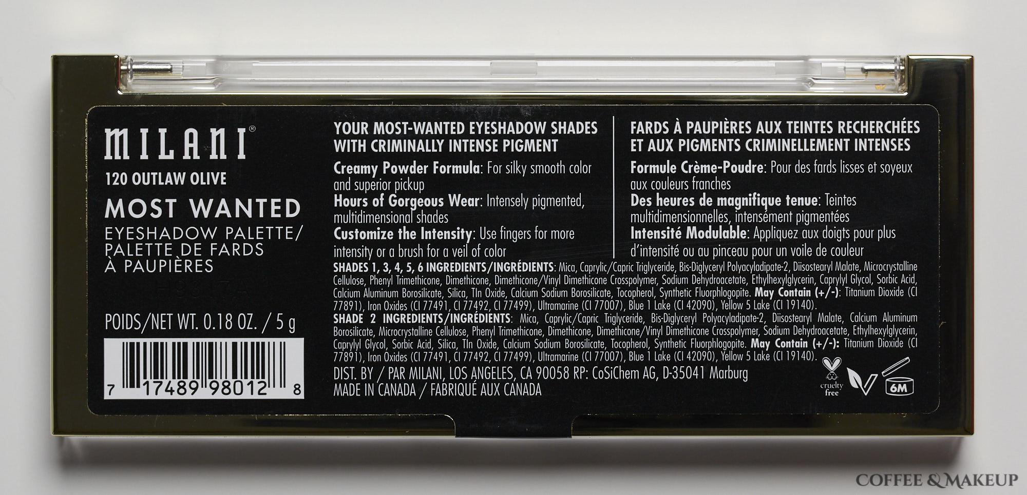 Milani Outlaw Olive Most Wanted Eyeshadow Palette
