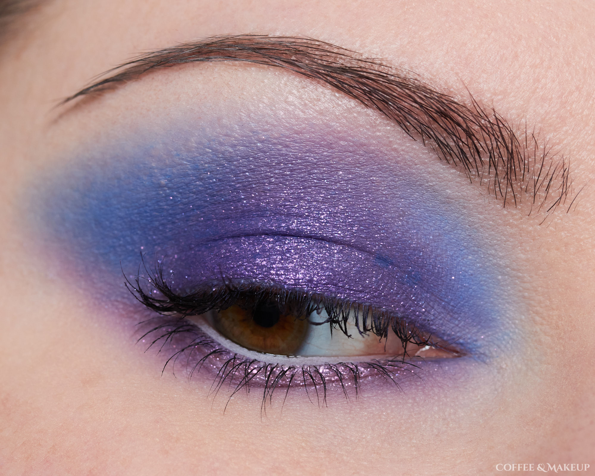 Menagerie Cosmetics Violet Ink Palette Look #1