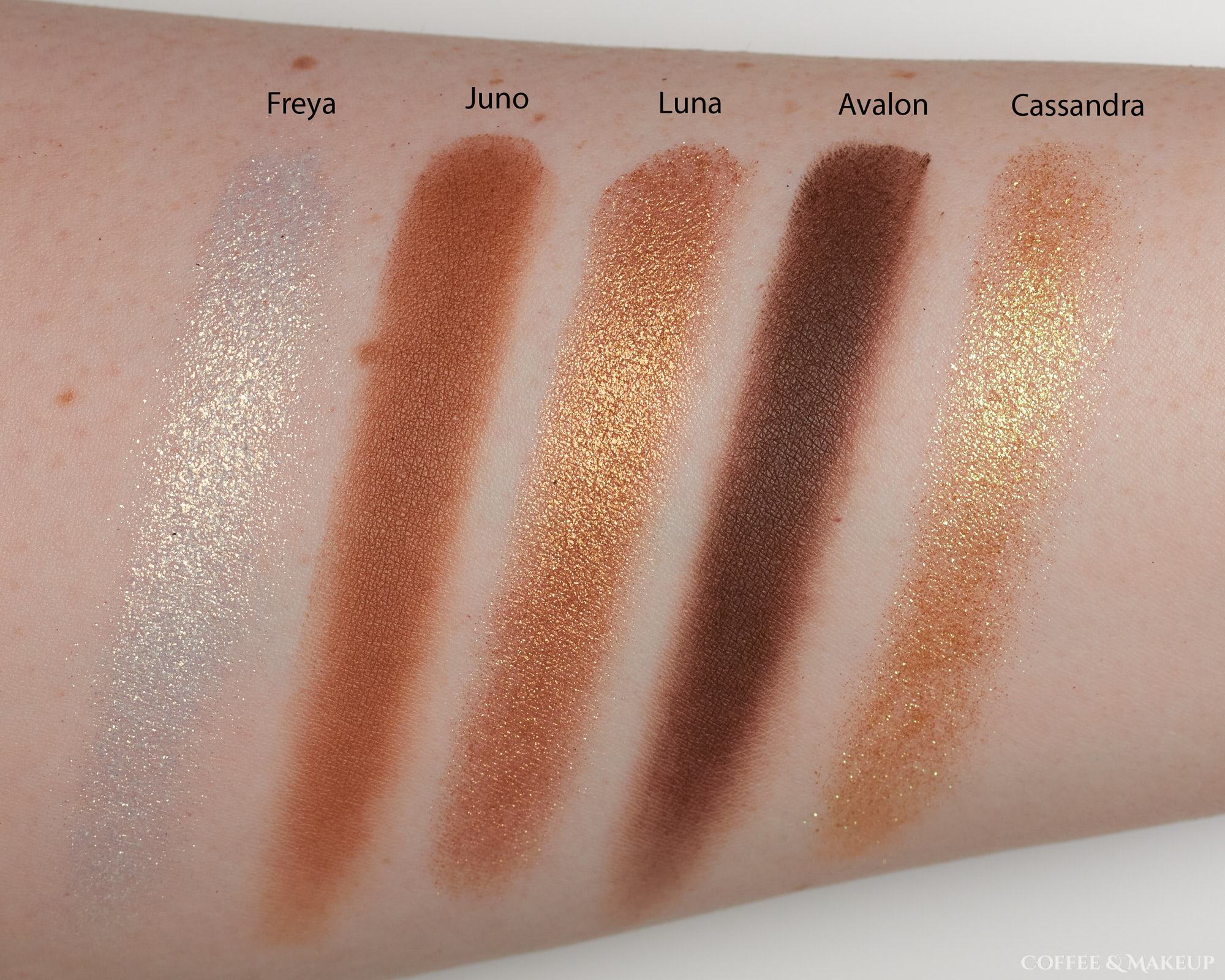 Alter Ego Goddess Palette Swatches