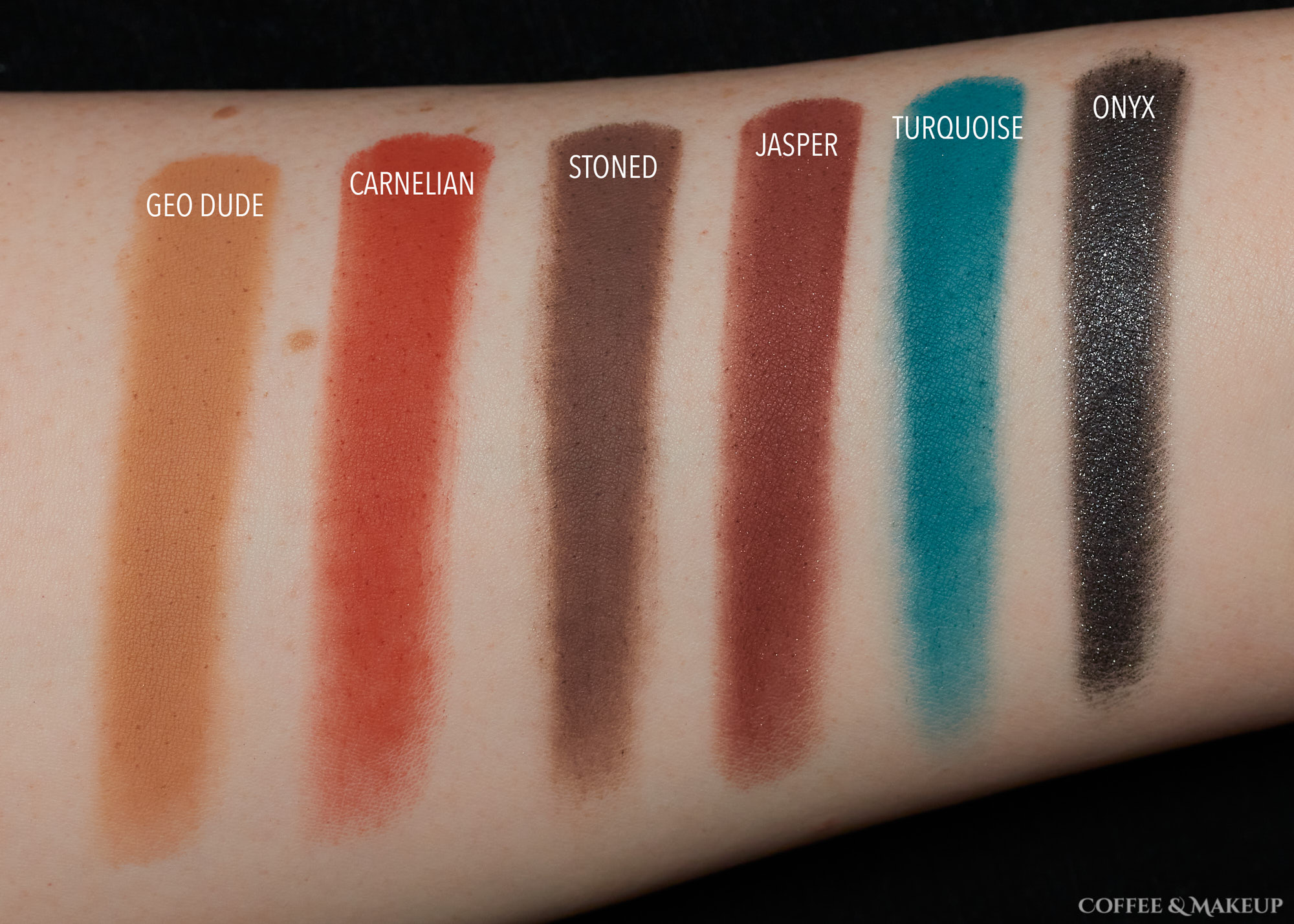 Row 4 | ColourPop So Jaded Palette Swatches