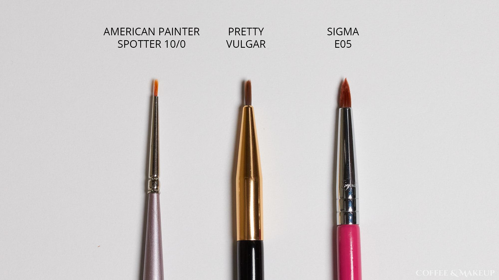 Eyeliner Brush Comparisons