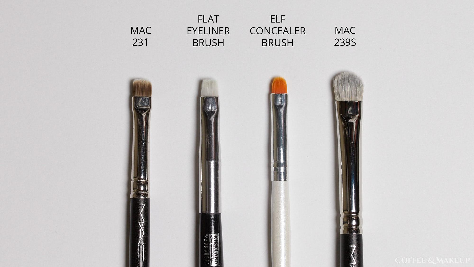 Mac 231 Brush Comparisons