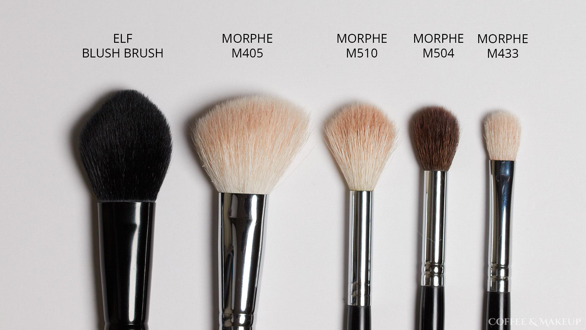 Elf Blush Brush, Morphe M405, Morphe M510, Morphe M504, Morphe M433