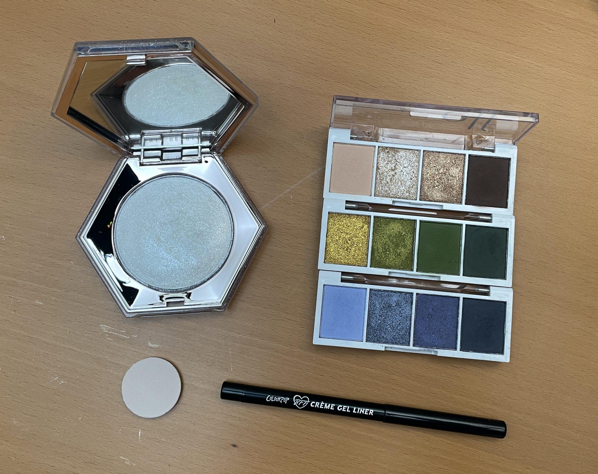 Products Used | Elf Bite Size Eyeshadow + Fenty Diamond Bomb Look