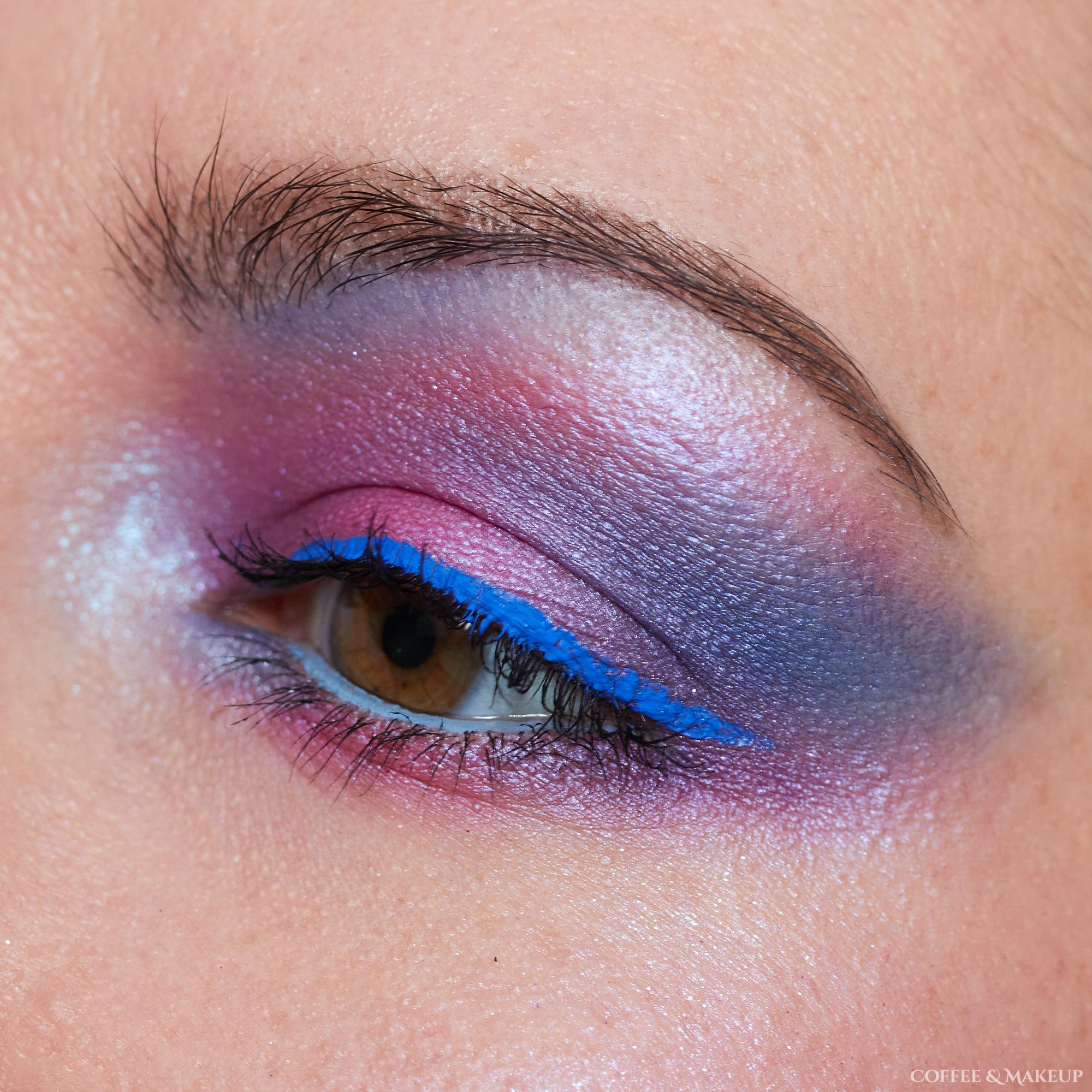 Pink and Blue Eyeshadow Look