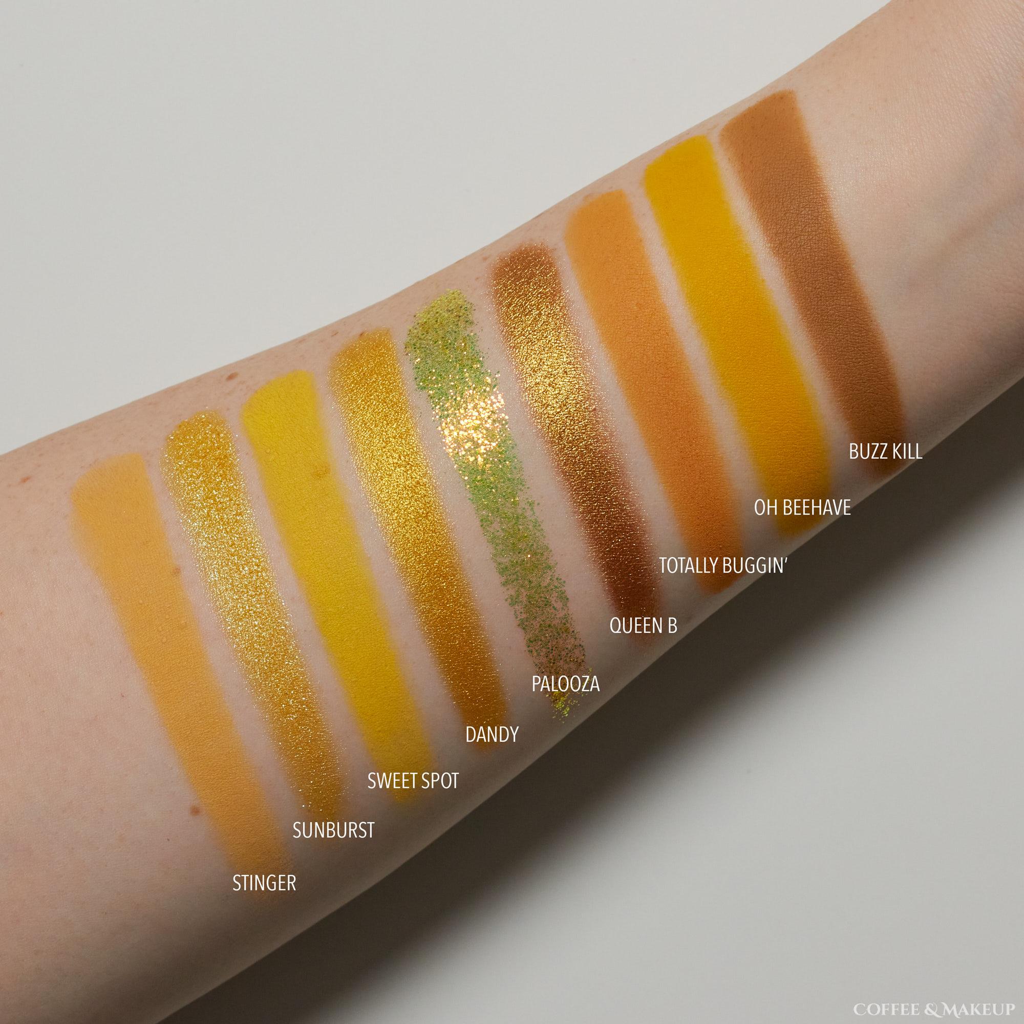 ColourPop Uh Huh Honey Palette Swatches